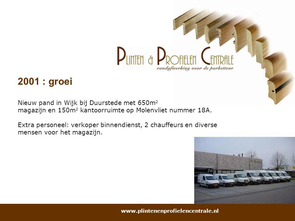 2001 : groei Nieuw pand in Wijk bij Duurstede met 650m2