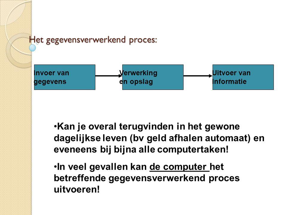 Het gegevensverwerkend proces: