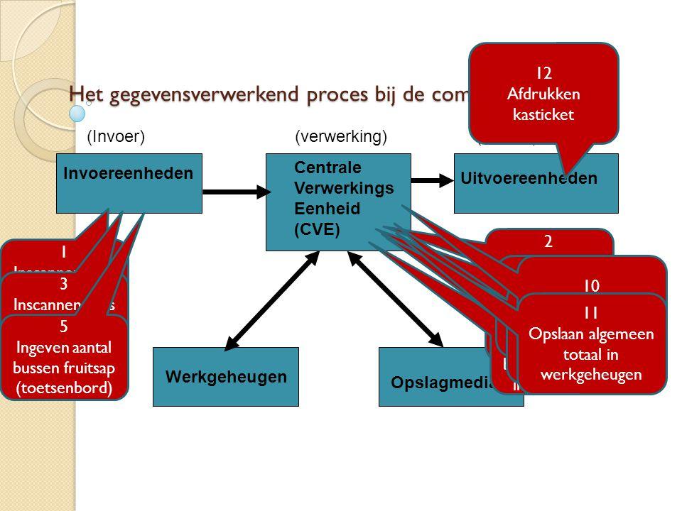 Het gegevensverwerkend proces bij de computer