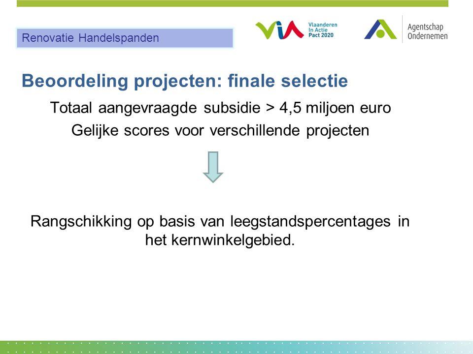 Beoordeling projecten: finale selectie