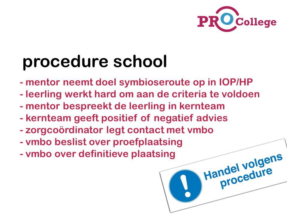 procedure school