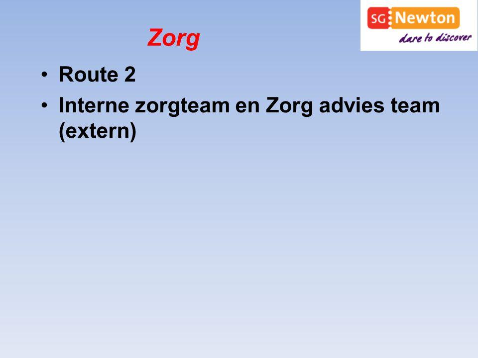 Zorg Route 2 Interne zorgteam en Zorg advies team (extern)