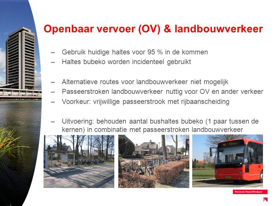 Openbaar vervoer (OV) & landbouwverkeer