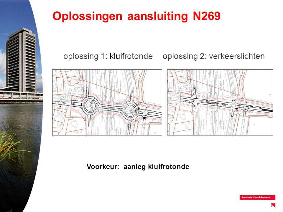 Oplossingen aansluiting N269