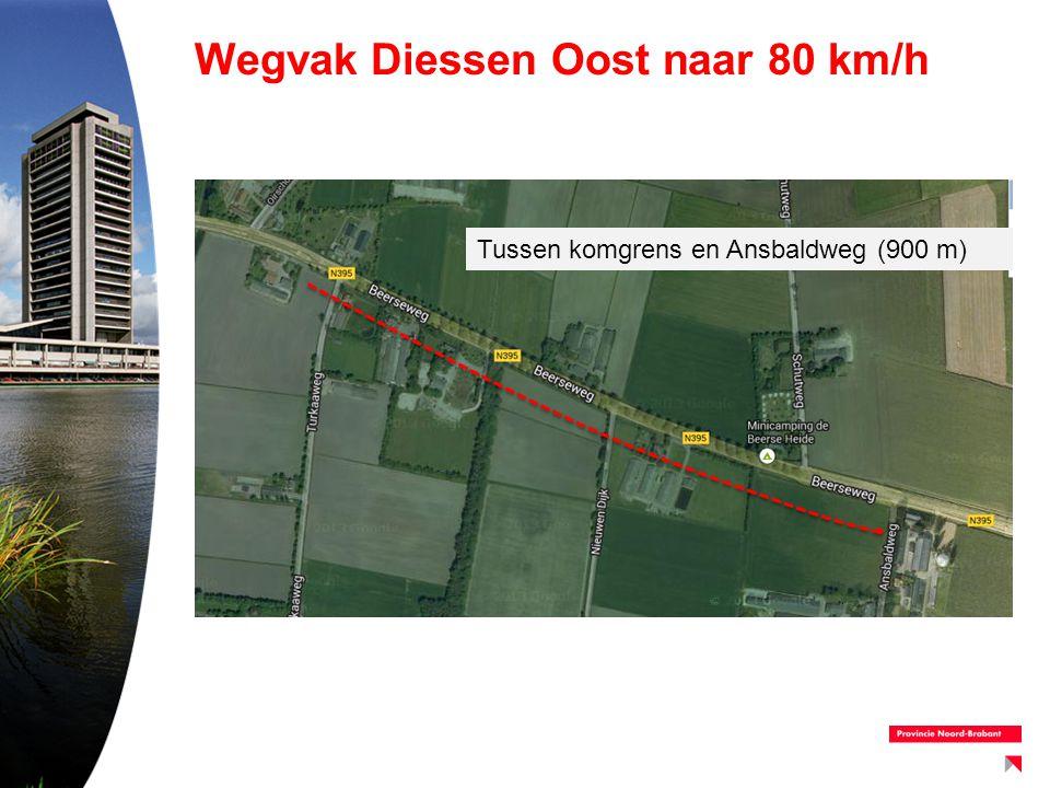 Wegvak Diessen Oost naar 80 km/h