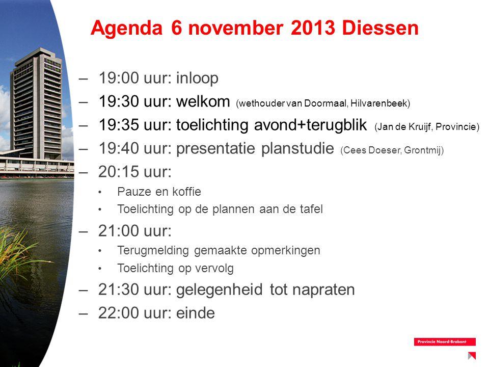 Agenda 6 november 2013 Diessen