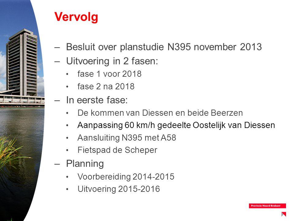 Vervolg Besluit over planstudie N395 november 2013