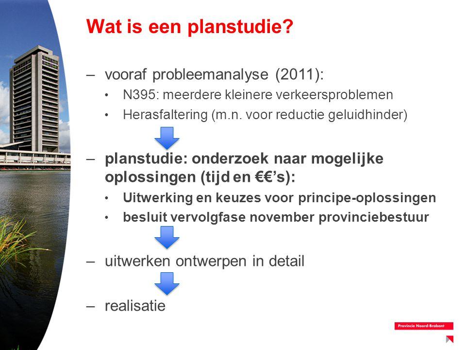 Wat is een planstudie vooraf probleemanalyse (2011):