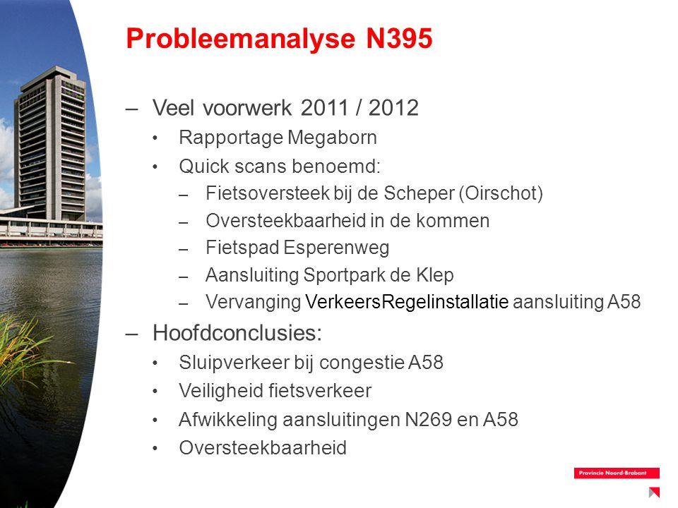 Probleemanalyse N395 Veel voorwerk 2011 / 2012 Hoofdconclusies: