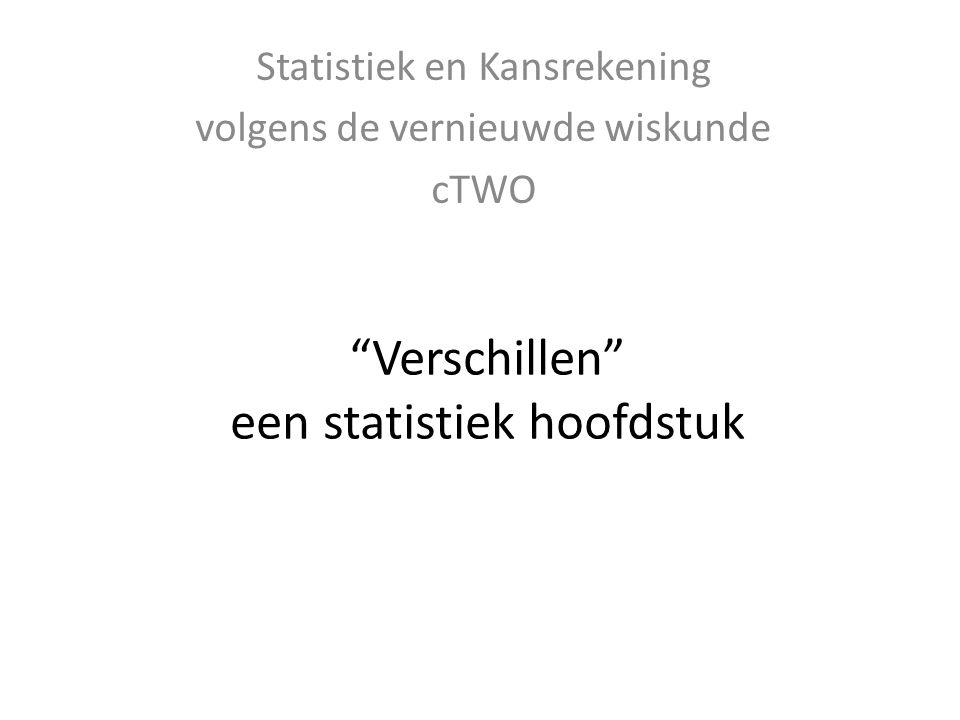 Verschillen een statistiek hoofdstuk