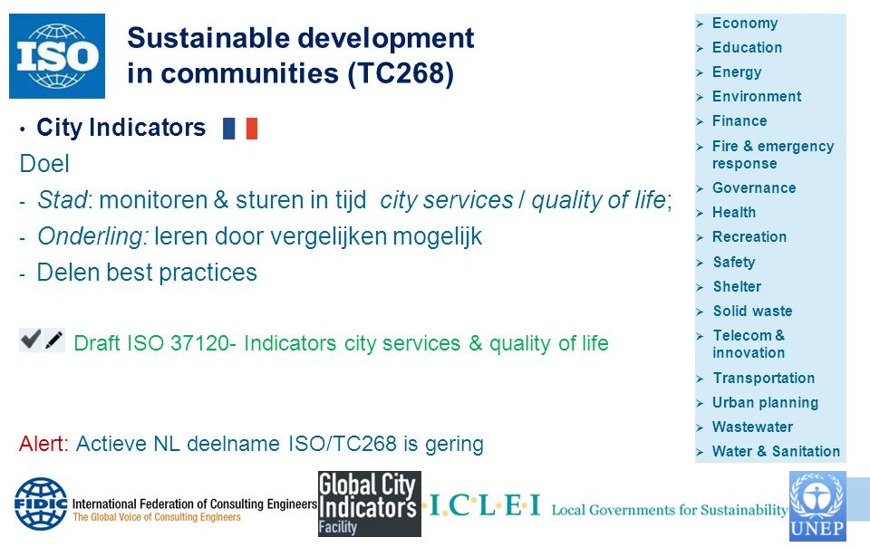 Sustainable development in communities (TC268)