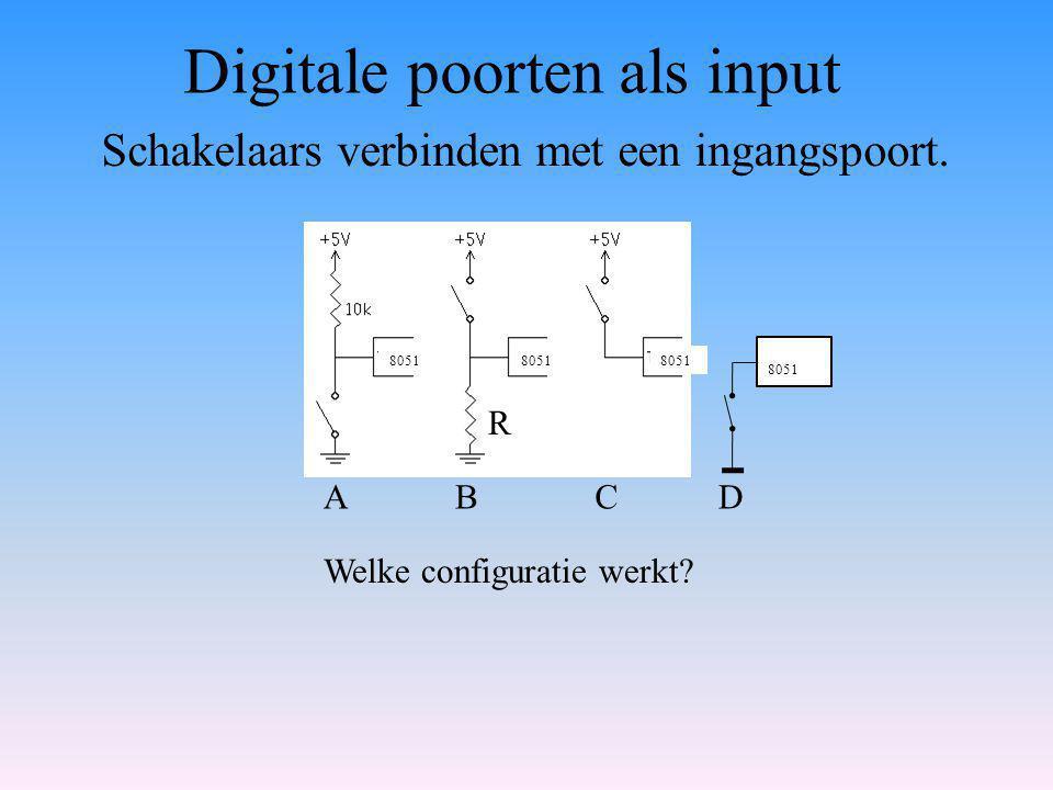 Digitale poorten als input