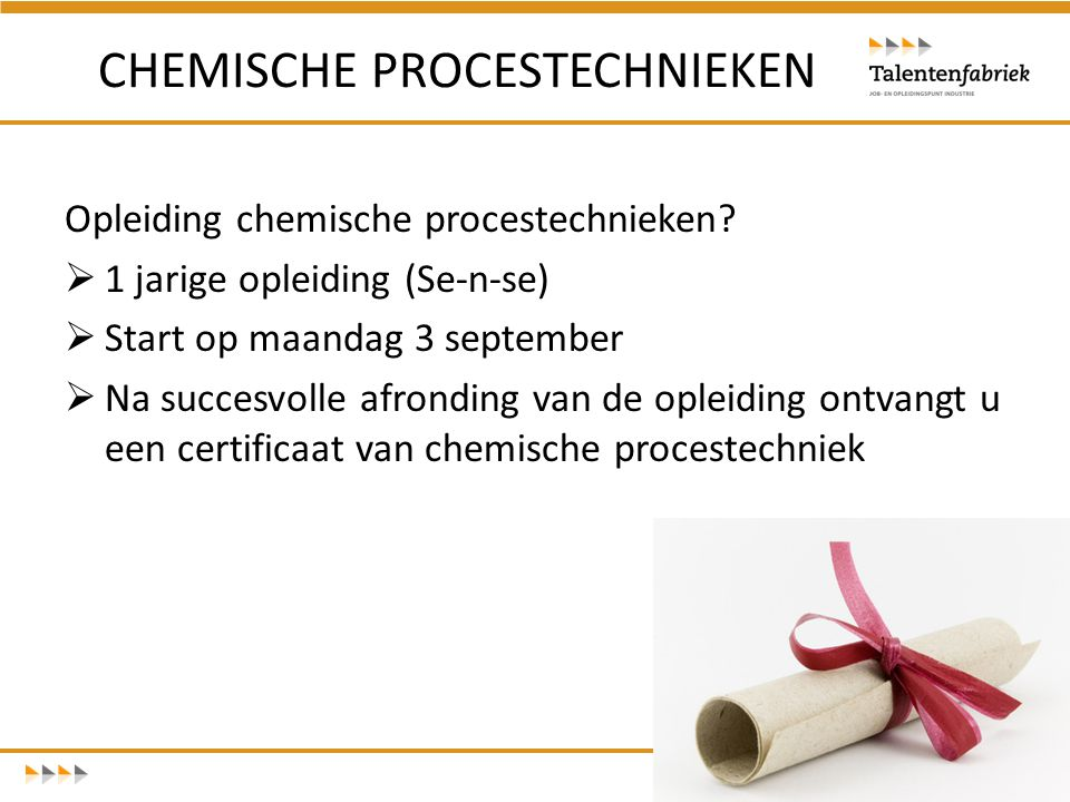 CHEMISCHE PROCESTECHNIEKEN