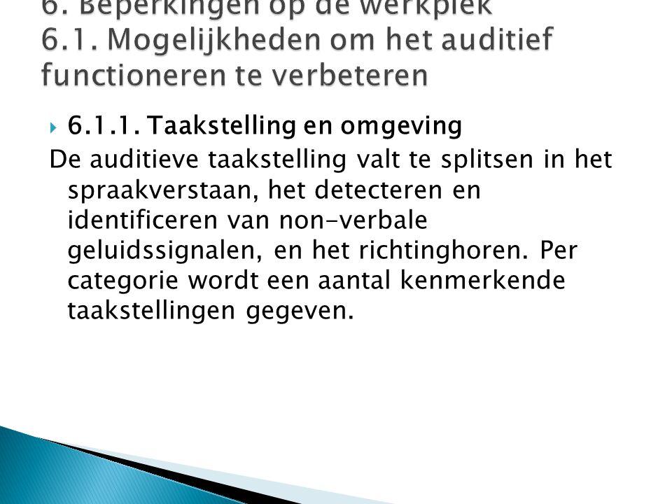 6. Beperkingen op de werkplek 6. 1