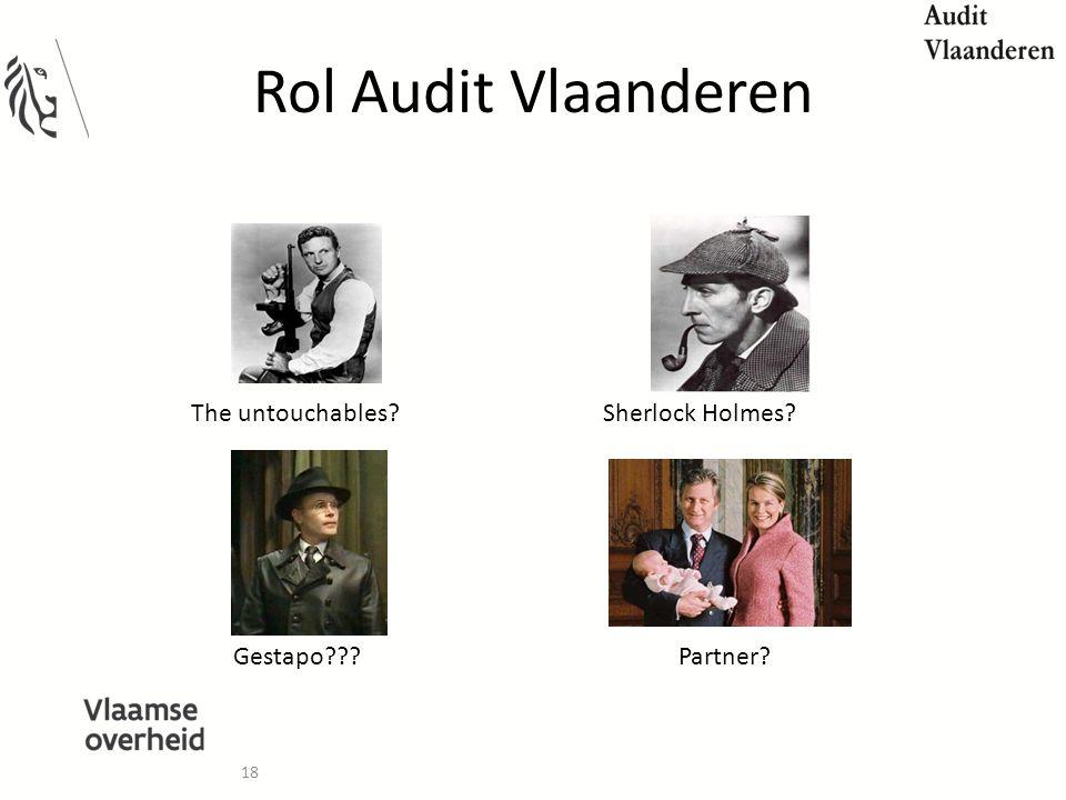 Rol Audit Vlaanderen The untouchables Sherlock Holmes Gestapo
