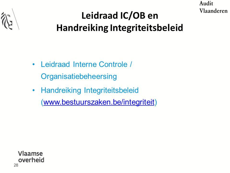Leidraad IC/OB en Handreiking Integriteitsbeleid