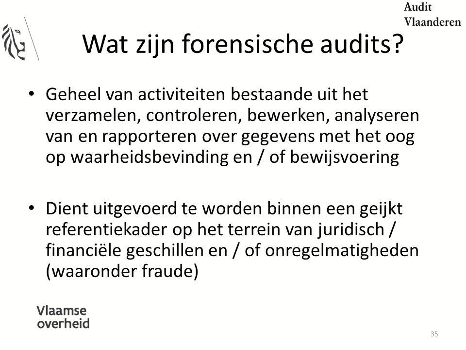 Wat zijn forensische audits