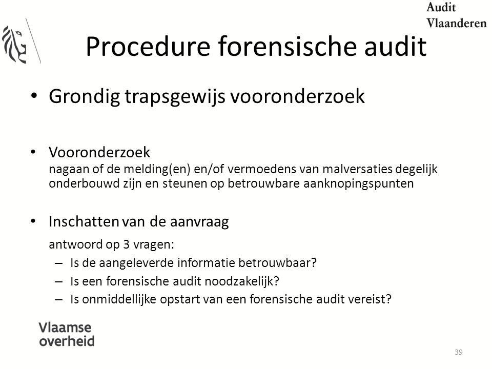 Procedure forensische audit