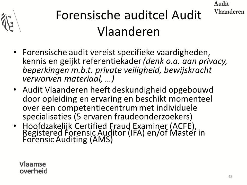 Forensische auditcel Audit Vlaanderen