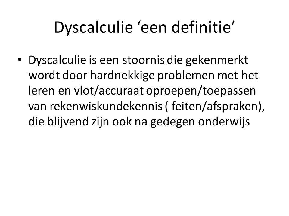 Dyscalculie 'een definitie'