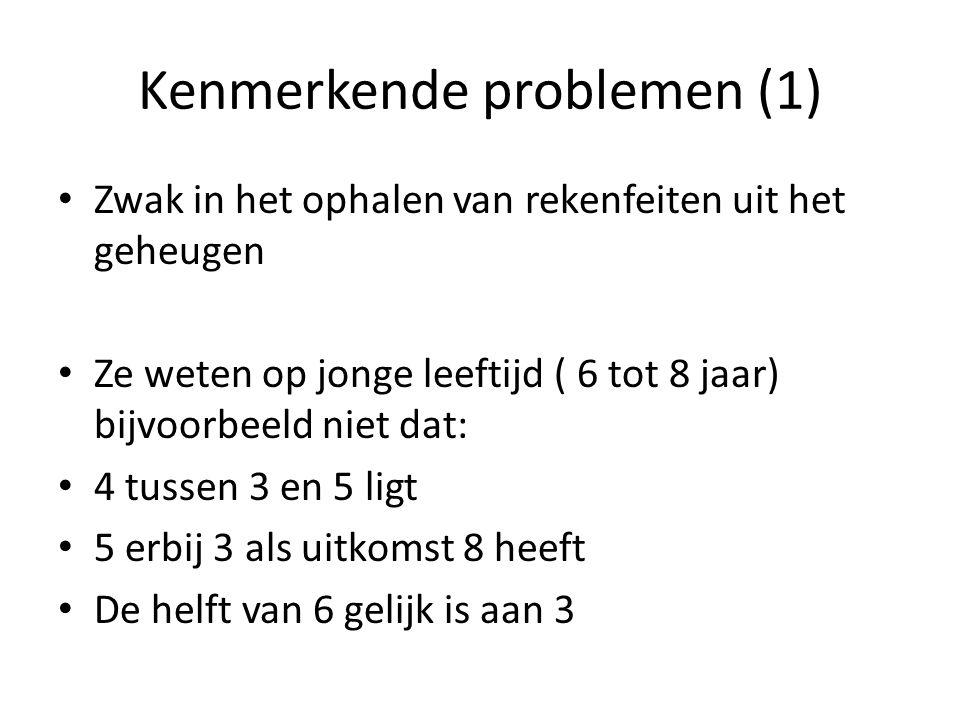 Kenmerkende problemen (1)