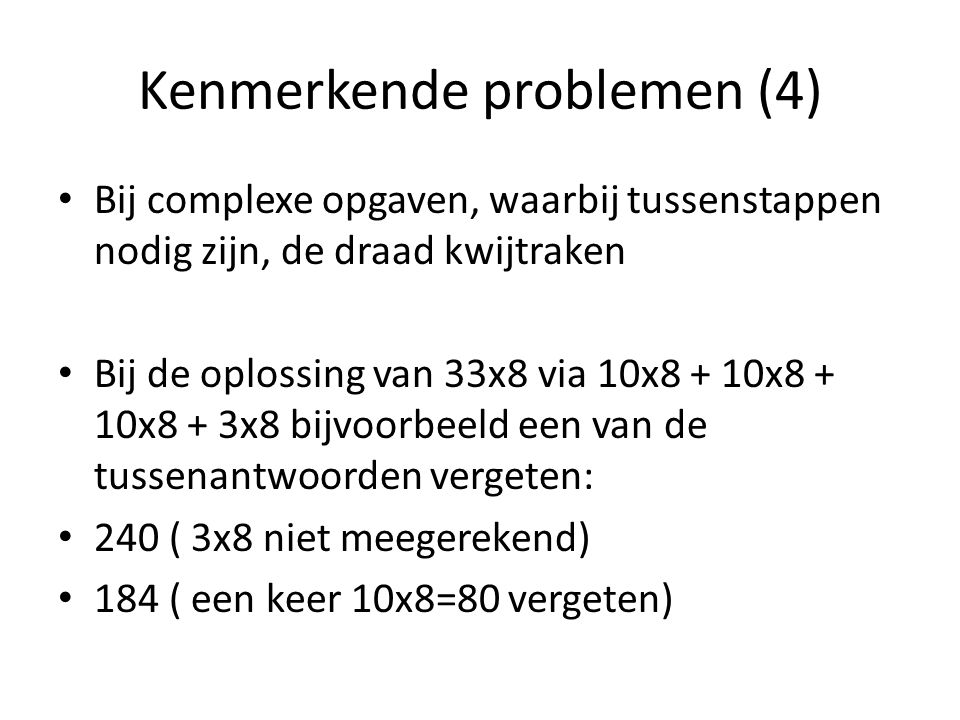 Kenmerkende problemen (4)