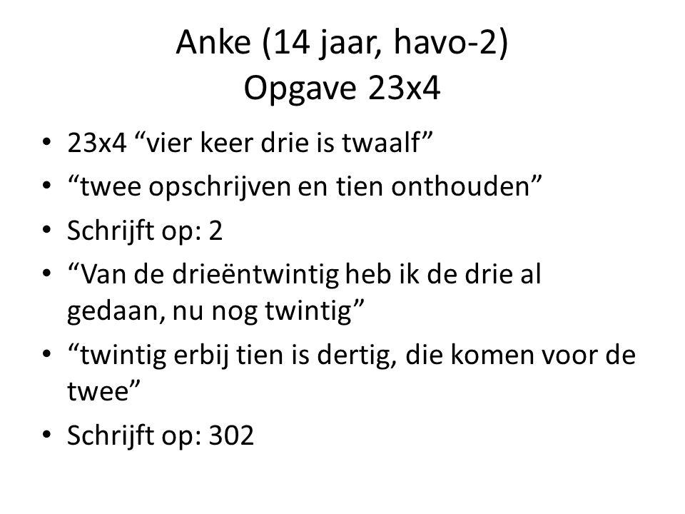 Anke (14 jaar, havo-2) Opgave 23x4