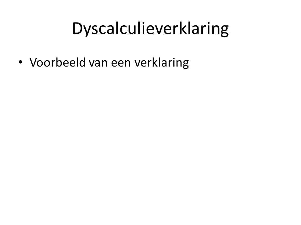 Dyscalculieverklaring
