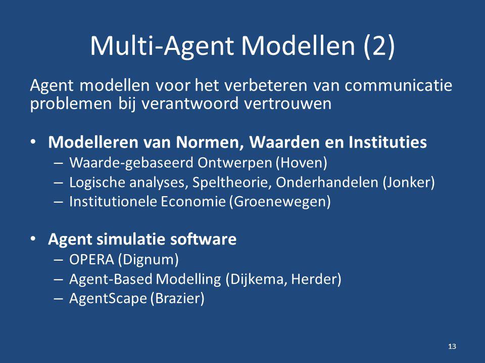 Multi-Agent Modellen (2)