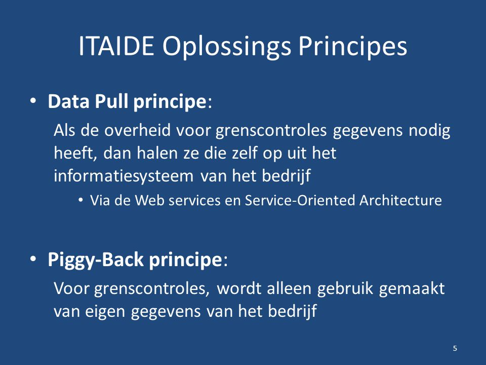 ITAIDE Oplossings Principes