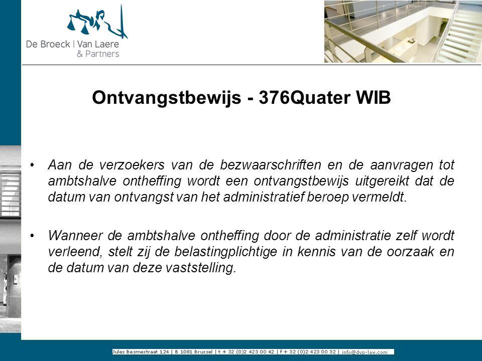 Ontvangstbewijs - 376Quater WIB