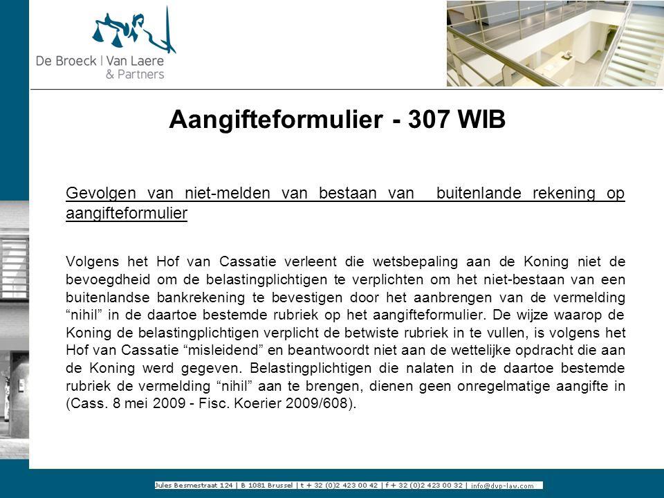 Aangifteformulier - 307 WIB
