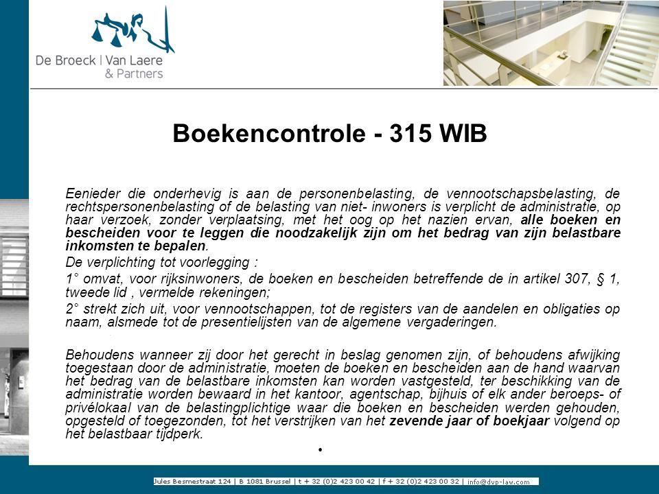Boekencontrole - 315 WIB