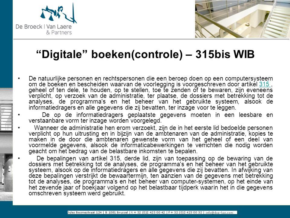 Digitale boeken(controle) – 315bis WIB