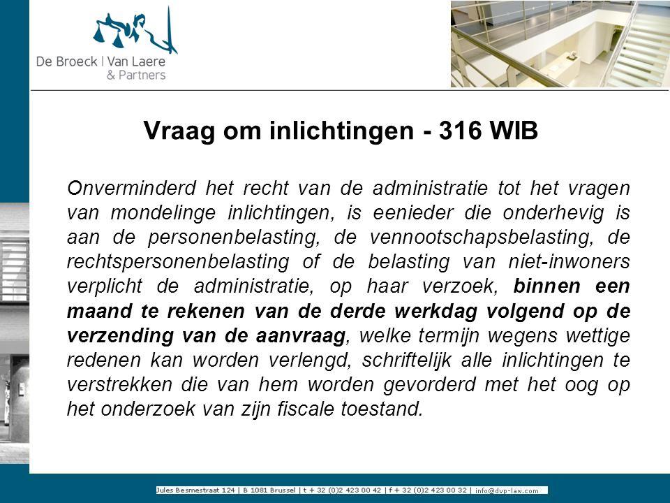 Vraag om inlichtingen - 316 WIB