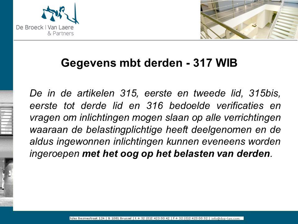 Gegevens mbt derden - 317 WIB