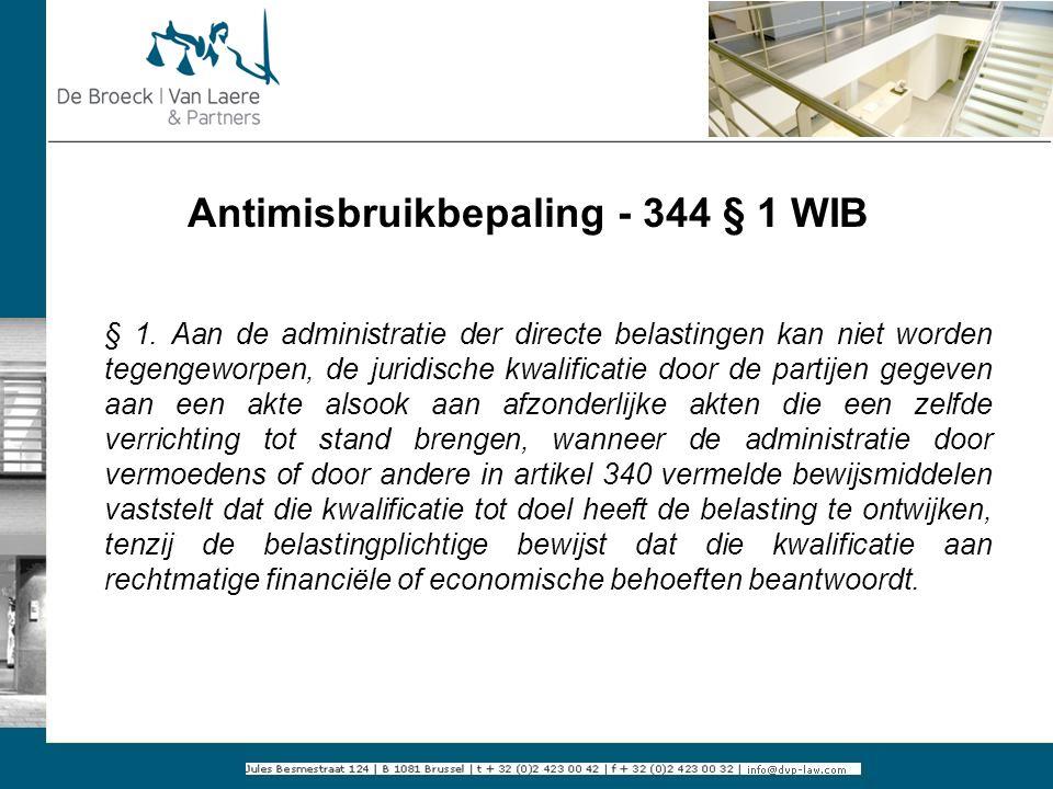 Antimisbruikbepaling - 344 § 1 WIB