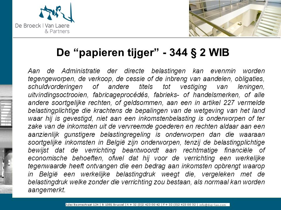 De papieren tijger - 344 § 2 WIB