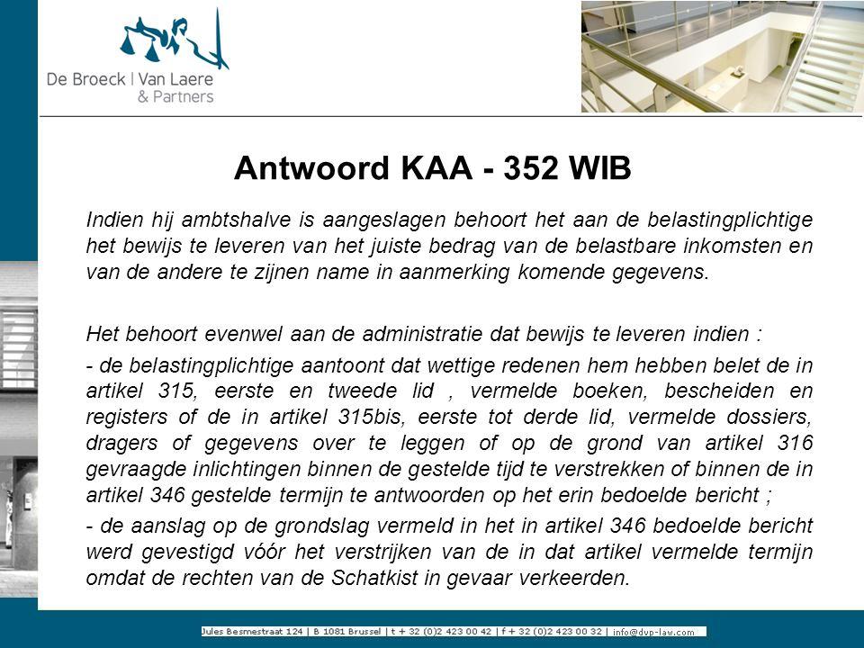 Antwoord KAA - 352 WIB