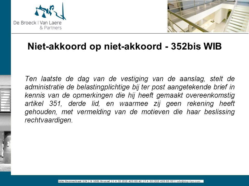 Niet-akkoord op niet-akkoord - 352bis WIB