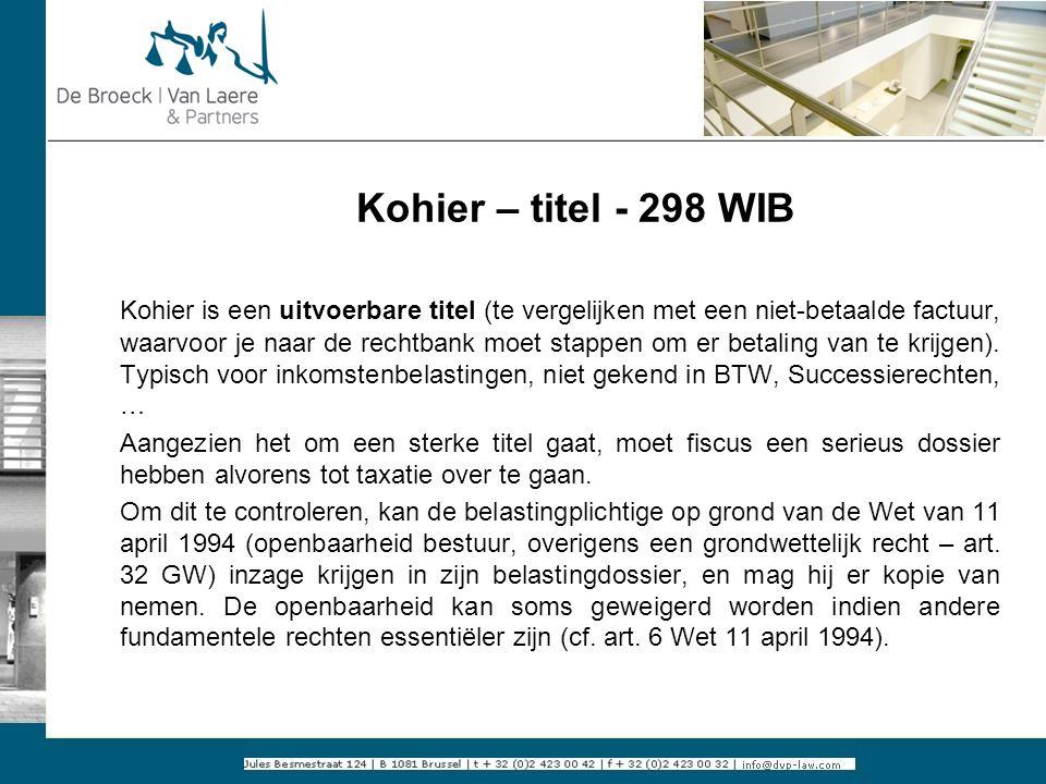 Kohier – titel - 298 WIB