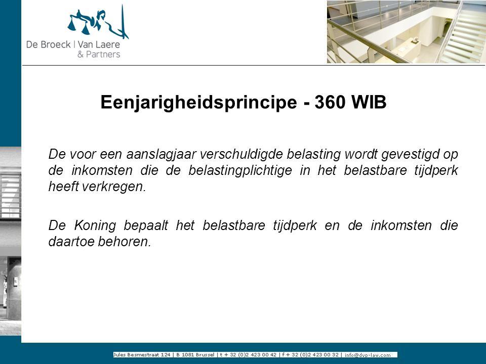 Eenjarigheidsprincipe - 360 WIB