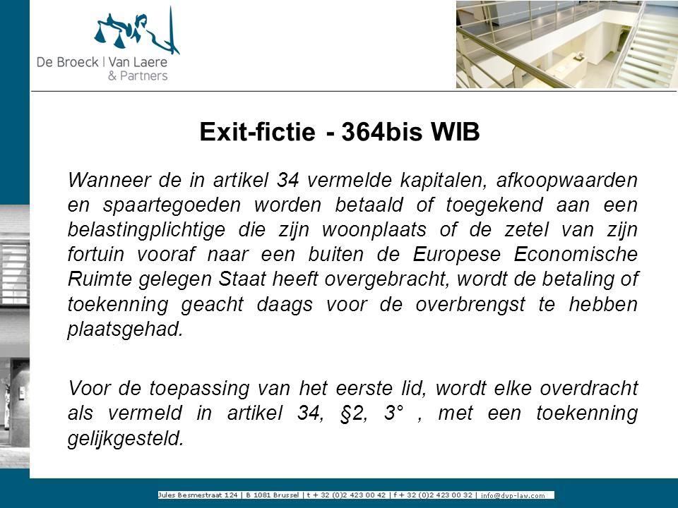 Exit-fictie - 364bis WIB