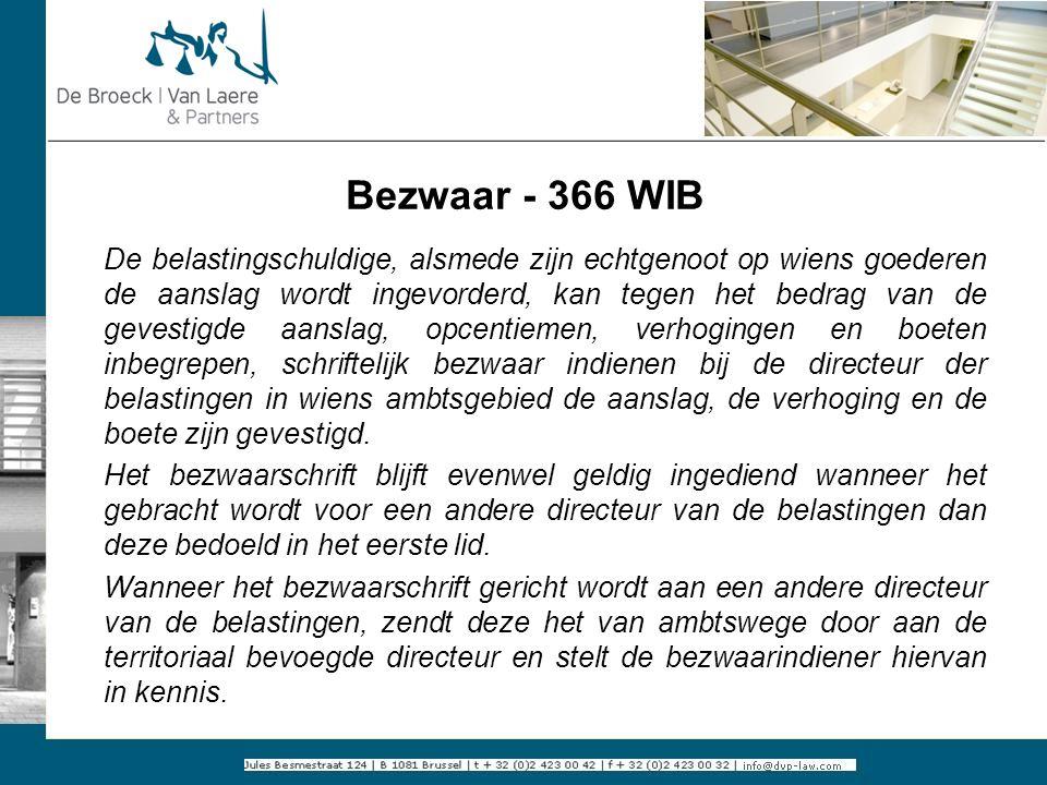 Bezwaar - 366 WIB