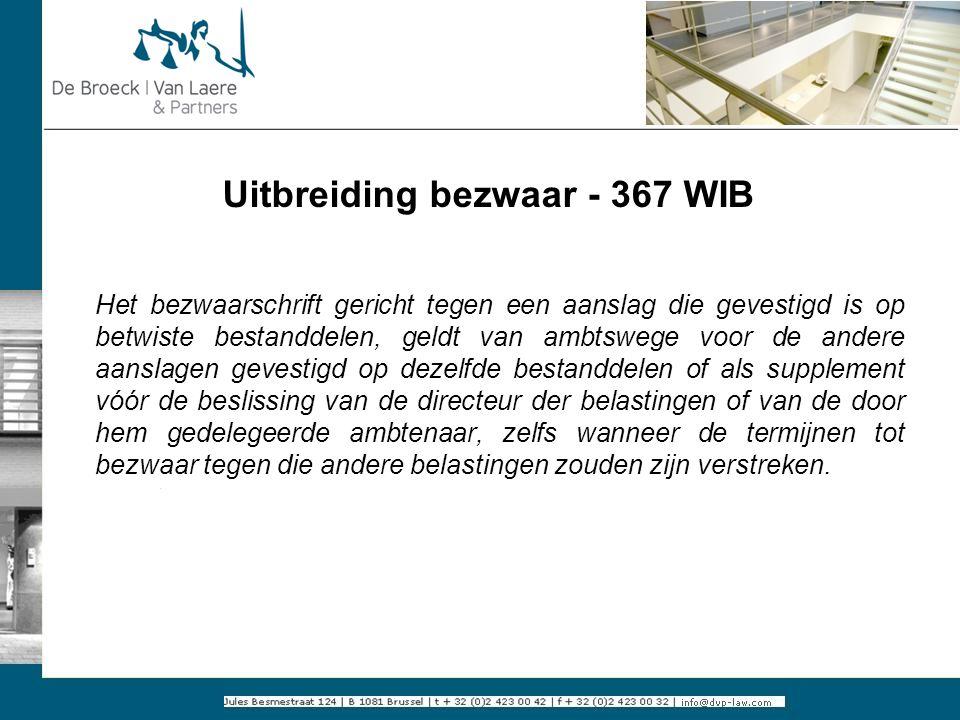 Uitbreiding bezwaar - 367 WIB
