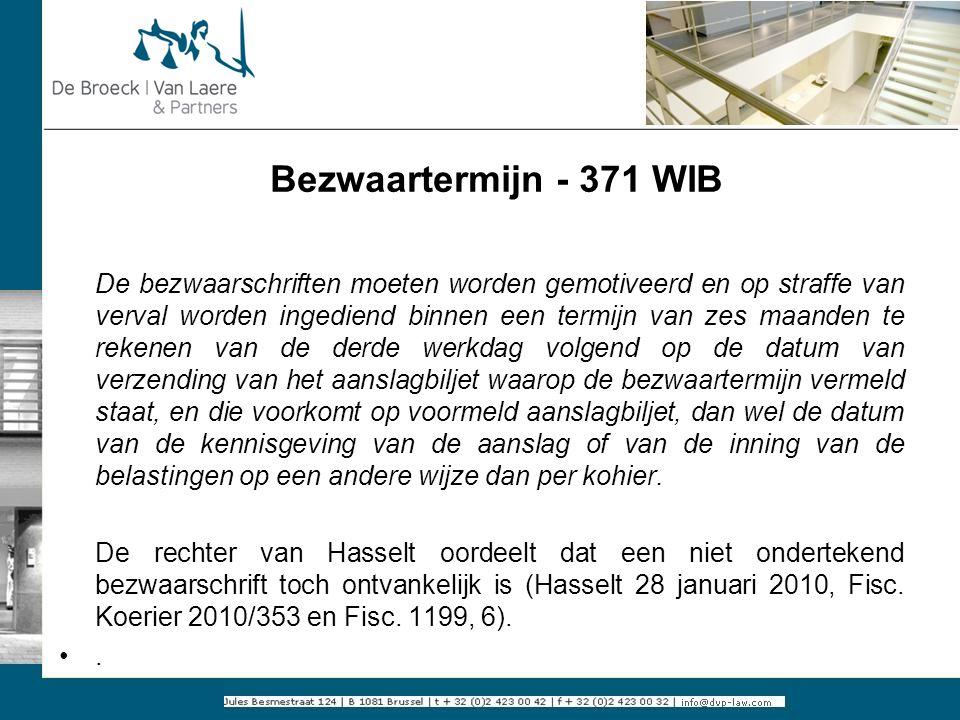 Bezwaartermijn - 371 WIB