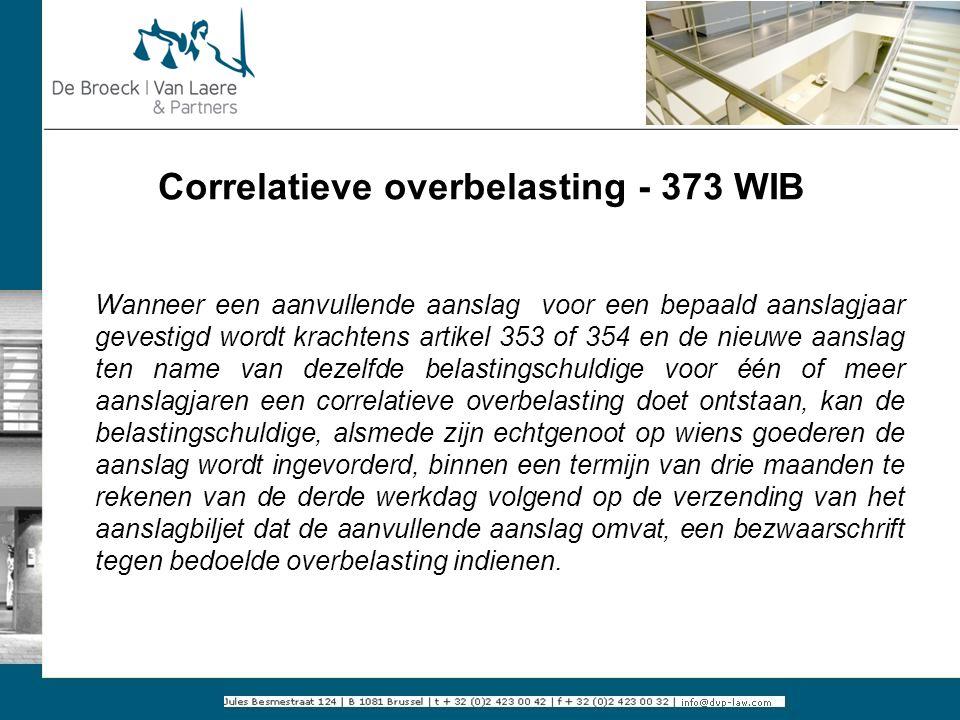 Correlatieve overbelasting - 373 WIB