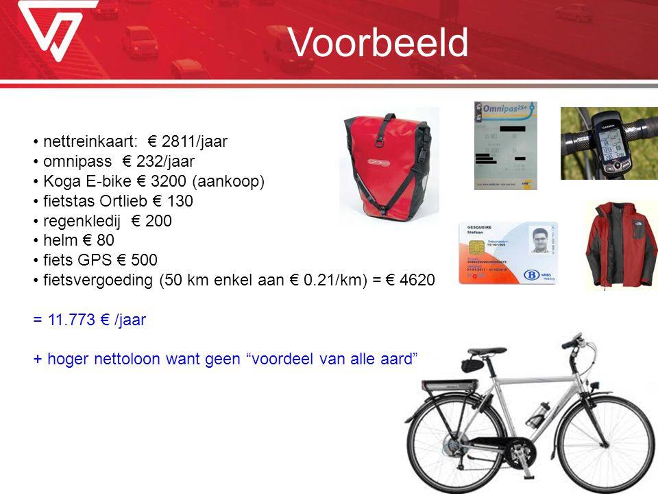 Voorbeeld nettreinkaart: € 2811/jaar omnipass € 232/jaar