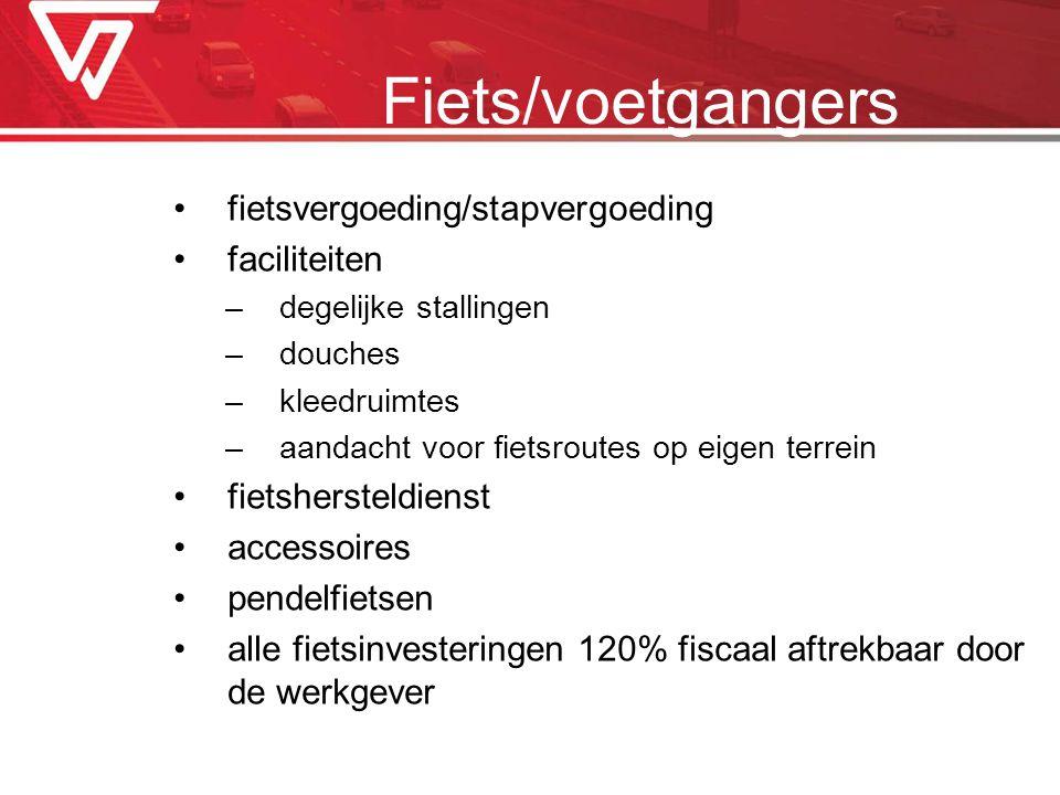 Fiets/voetgangers fietsvergoeding/stapvergoeding faciliteiten