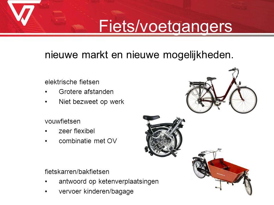 Fiets/voetgangers nieuwe markt en nieuwe mogelijkheden.